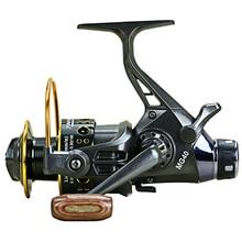 Yumoshi Fishing Reel Double Brake Super Strong Carp 5.2:1 Feeder Rotating Spinning Wheel MG