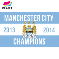 Manchester City Champions Flags 3X5ft Polyester Printing Flag Banners NEW Digital Home Decorations Sports Banner 2017