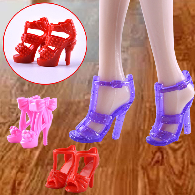 dae85df02ca 8 Pairs lot Fashion High Heel Sandals Shoes Boots For 11 Inch Doll Princess  Best Gift Toy For Baby Girl Toys