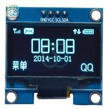 купить 4Pin 1.3 1.3 inch Blue OLED 128X64 OLED Display Screen Module Board for arduino 1.3 IIC I2C Communicate недорого
