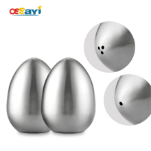 1Pcs Salt Spice Pepper Shaker Stainless Egg Shaped Condiment Bottle Kitchen Gadgets Metal Salt Pepper Holder Seasoning Bottle