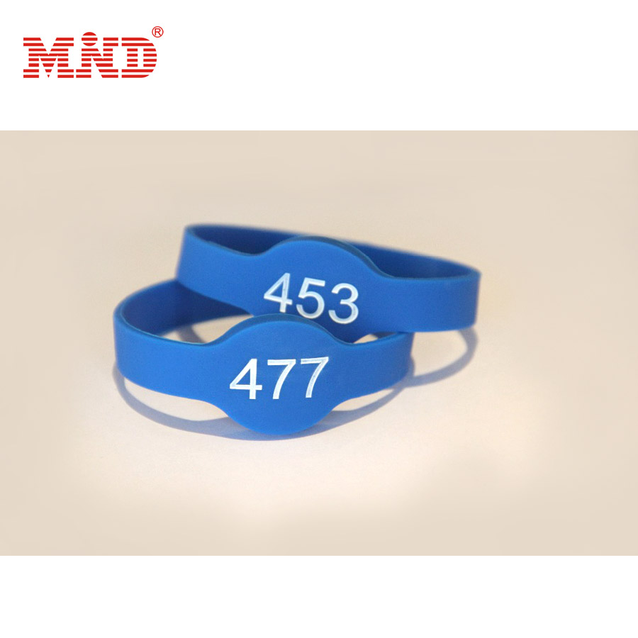 Access Control Practical Rfid Bracelet 13.56mhz I-code 2 Soft Silicon Rfid Wristband For Electronic Safe Lock