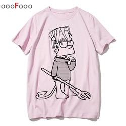 Lil peep t shirt rap raper hip hop Lil Peep. Cry Baby koszulka tshirt top tee shirty męskie śmieszne koszulki z krótkim rękawem tshirt mężczyzn mężczyzna/kobiety drukowane 2