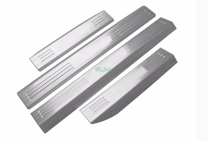 For Volkswagen VW Tiguan 2010 2015 Stainless Steel Door Sill Step Scuff Plates car pedal welcome pedal