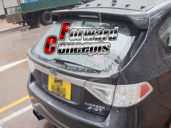 FOR CARBON FIBER 08 14 IMPREZA WRX GR GH REAR WING HATCH MIDDLE SPOILER