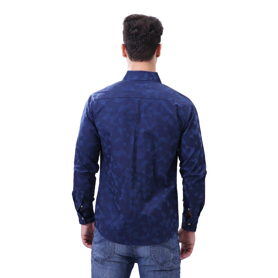 4b0ff2ed59e M 5XL Men s Casual Shirts 2017 New Fashion Brand Jacquard Weave Long Sleeve  Office Shirt Men Slim Fit Business Cotton Shirt Men-in Casual Shirts from  Men s ...