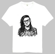 Skrillex T Shirt Summer Short Sleeve Teenages White Skrillex Logo Top Tees Shirt For Men Women