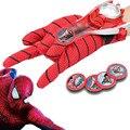 1 conjunto de 24 cm adulto crianças adequado Spiderman homem aranha traje de Batman homem aranha luvas como crianças brinquedos S50