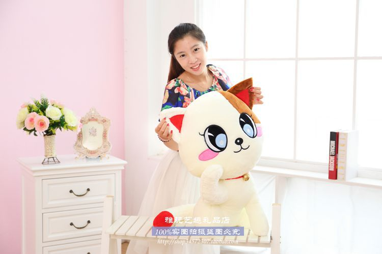 ФОТО large 65 cm cat plush toy lucky cat doll birthday gift , Christmas gift w6101