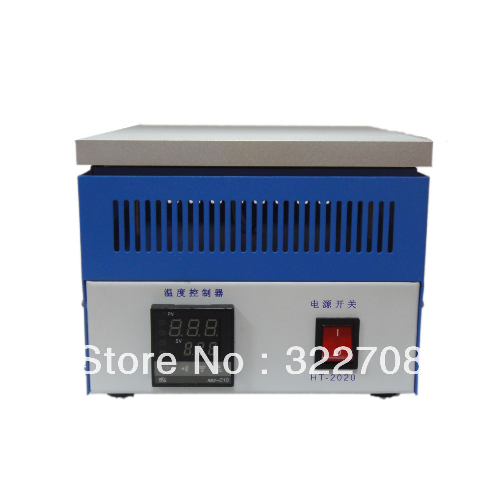 Spedizione gratuita HT-2020 termostati per riscaldamento stazione di preriscaldamento stazione di saldatura BGA urtando forno 200 * 200mm 110 V.