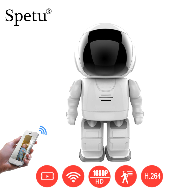 Spetu Robot IP Camera HD WIFI Baby Monitor 1080P CMOS Wireless CCTV P2P PTZ Onvif Audio Security Remote Wi-fi IR Night Vision robot camera wifi 960p 1 3mp hd wireless ip camera ptz two way audio p2p indoor night vision wi fi network baby monitor security