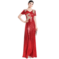 Pearl Sequined Mother 2018 New Women's Elegant Long Gown Party Proms For Gratuating Date Ceremony Gala Evenings Dresses A71 Z