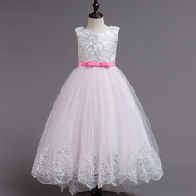 b631907aee40e Girls Long Flower Party Prom Dresses For Girl Kids Princess Wedding  Teenagers Children First Communion Dress