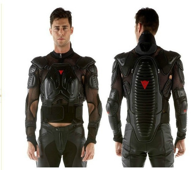 Free shipping, with neck guard armor clothing protector FULL BODY ARMOR motorcycle jacket M L XL XXL XXXL