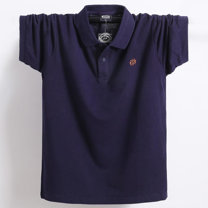 Plus Size Tace & Shark   Polo   Shirt Men Short Sleeve High Quality 95% Cotton Tee Shirt Homme Euro Size 4XL 5XL 6XL Big & Tall