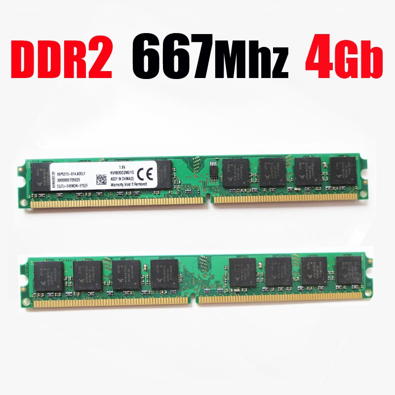 Paměť DDR2 667 8Gb 8G 8 Gb 4Gb desktop RAM ddr 2 4 Gb 4G 667Mhz PC2-5300 PC2 5300 (pro AMD pro všechny) - doživotní záruka