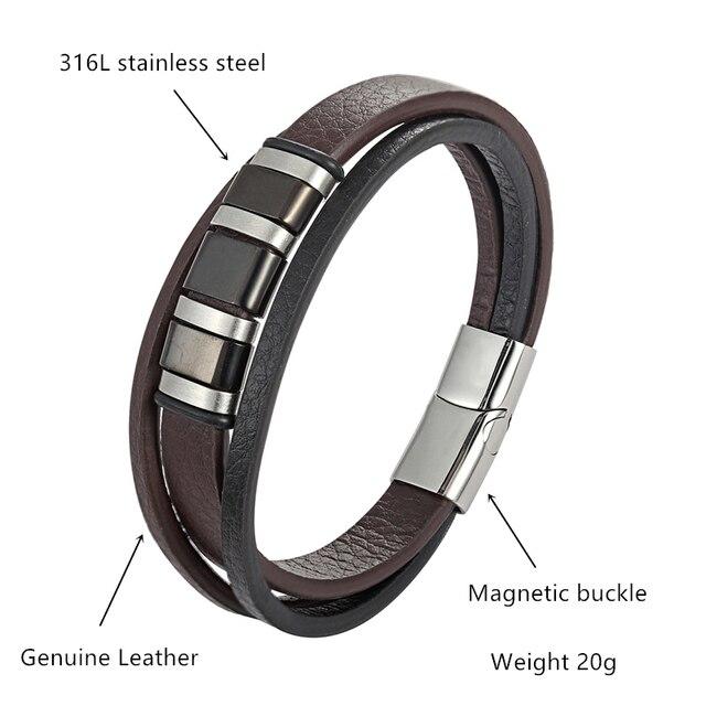 Janeyacy Модные мужские ювелирные изделия черный/коричневый
