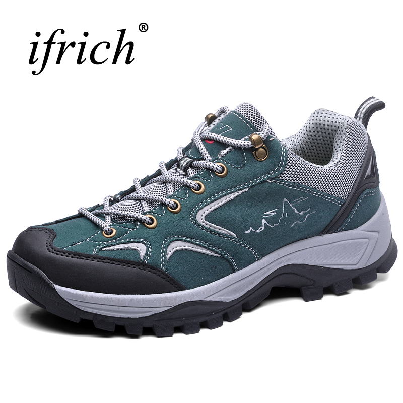 2017 New Autumn Winter Men Outdoor Shoes Leather Mountaineering Boots Lace Up Trekking Sneakers Wearable Camping Sneakers Men 2017 autumn winter mens hiking trainers rubber outdoor men shoes lace up outdoor man sneakers wearable high mountain boots