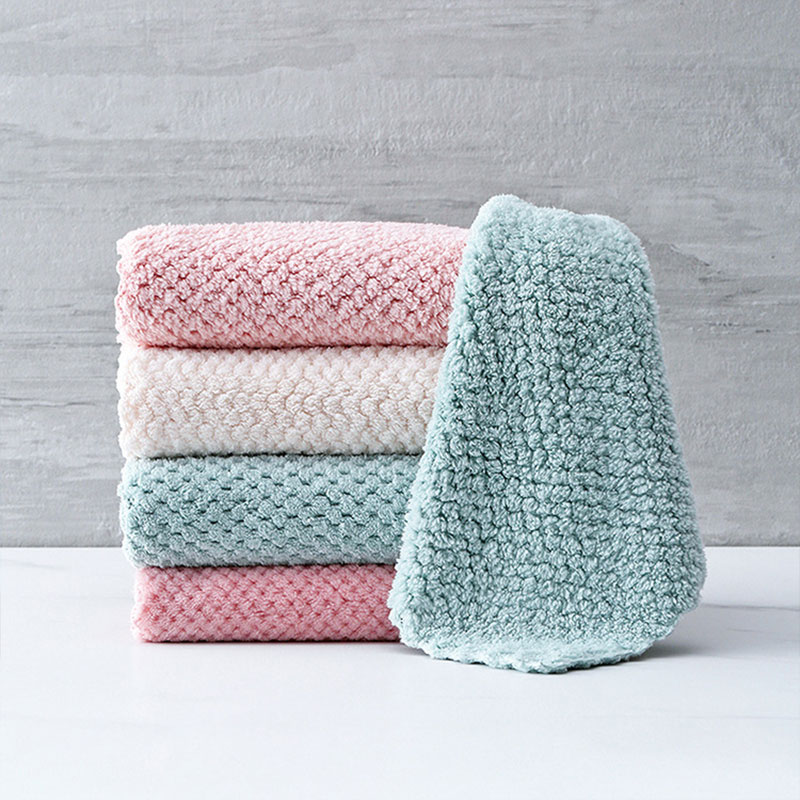 1 Piece Household Super Absorbent Cleaning Cloth Rag Microfiber Kitchen Towel Dishcloths Washing Cleaning Rags For Dish Washing(China)