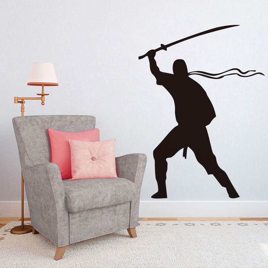 Poster design online - Art Wall Decor Removable Vinyl Decal Warrior Wall Stickers For Living Room Kids Decorations Solider Army