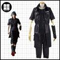 Final Fantasy XV Noctis Lucis Caelum Косплей Костюм Человек Весна Костюм Черный Пиджак + ShirtPants + Перчатки Полный Набор Хэллоуин униформа