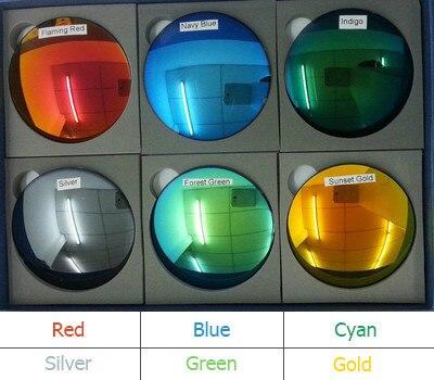 1.49 Índice de Moda Coloridos Reflexivos Espelhados Óculos Polarizados Lentes de Prescrição EV1200 Duro Anti-Scratch Proteção UV