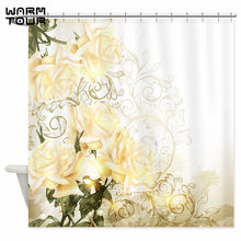 artistic shower curtains. Warm Tour Artistic Yellow Roses Decorative Fabric Shower Curtains Polyester Waterproof Bathroom Curtain WTC109 C