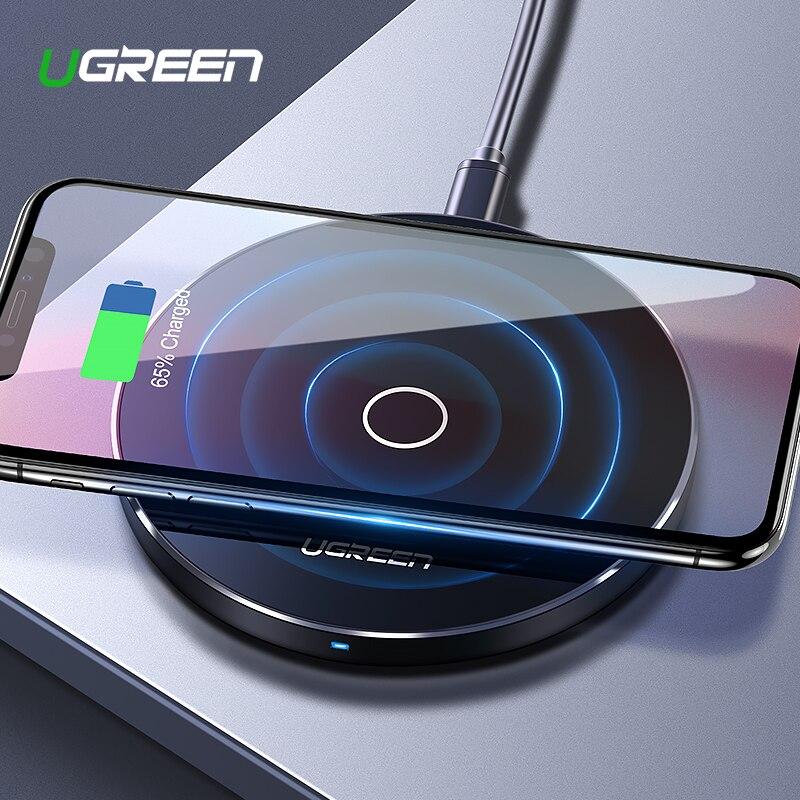 Ugreen inalámbrico cargador para iPhone X 8X10 W USB adaptador de carga inalámbrico para Samsung Galaxy S8 S9 S7 borde qi inalámbrico USB cargador