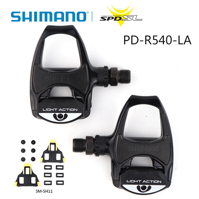 SHIMANO PD R540 LA Road bicycle pedal Light Action SPD SL Bike Pedals Include SM SH11