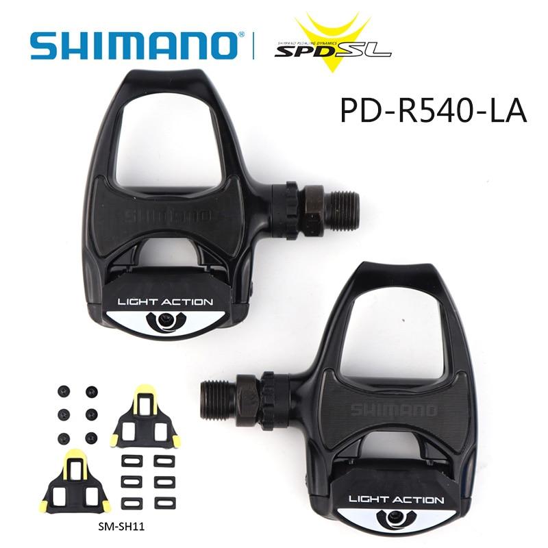 BLACK Brand New SHIMANO PD-R540 SPD-SL Pedals Road Bike w// SM-SH11 Cleats