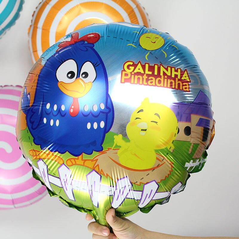 10 шт./лот Galinha Pintadinhas шар партии баллонов 18 дюймов металлик баллон для Festa Infantil детский день рождения украшения