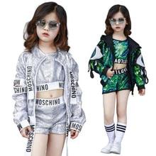 BAZZERY 180 cm 110 niños Jazz Dance disfraz niños niñas Street Dance  Performance Wear lentejuelas niños modernos Hip Hop ropa f71421cc7a3