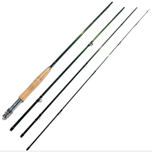 2.7m green color flying rod carbon 9 feet 4 sections fly fishing rods 6# 8# soft pole cork handle
