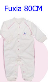 Комбинезоны для маленьких мальчиков и девочек, коллекция года, Одежда для новорожденных и малышей, детский хлопковый комбинезон с длинными рукавами, Красивый хлопковый комбинезон унисекс - Цвет: 80CM FUXIA