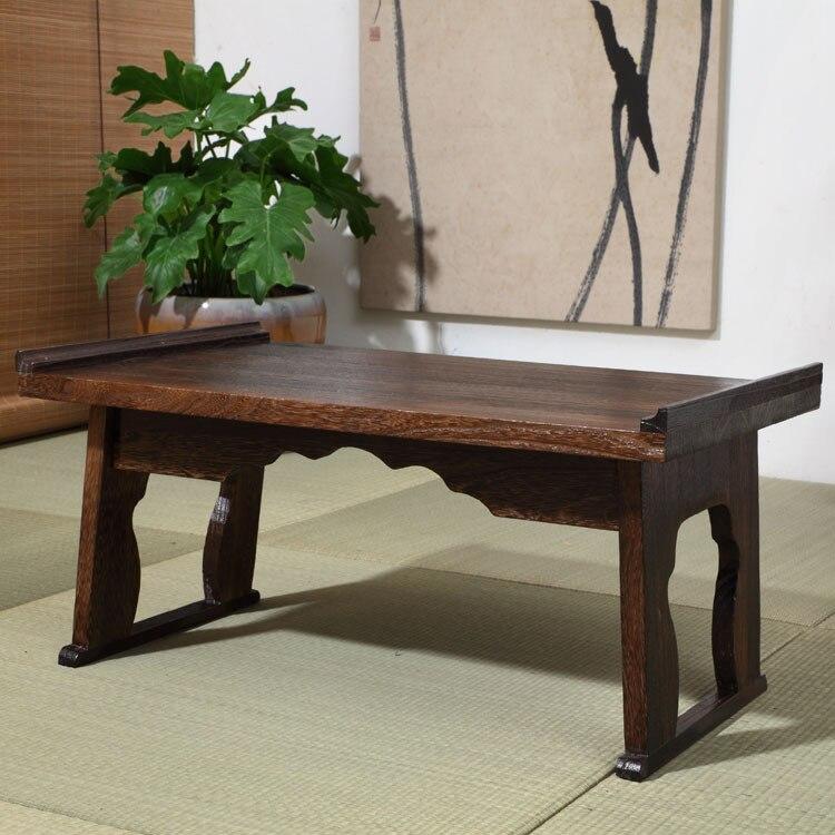 Plateau ancien japonais Table pliante jambe Rectangle 80cm Paulownia bois traditionnel CHABUDAI meubles asiatiques salon Table à thé