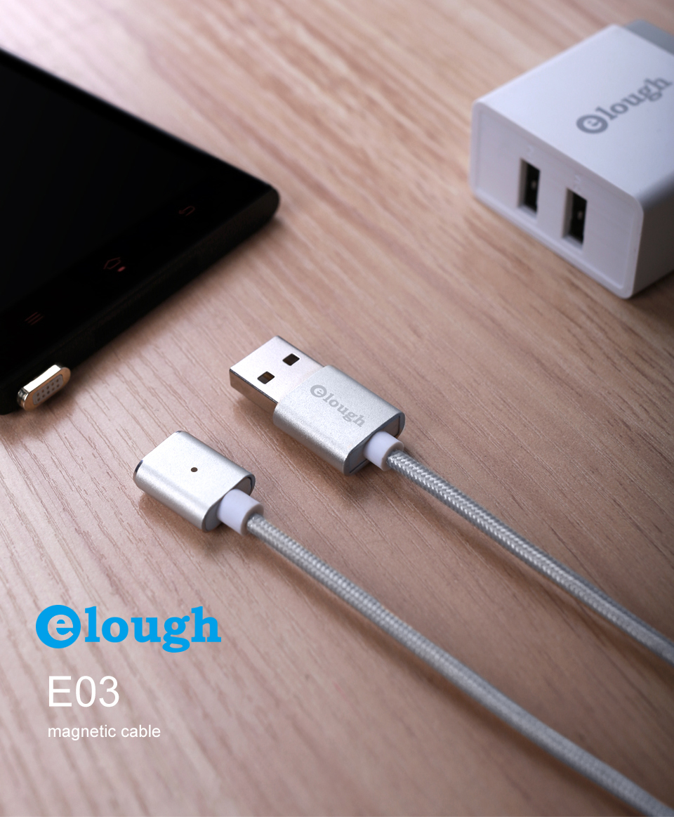 Elough E03 Magnetic Micro USB Cable Charger For Fast Charging And Magnetic Data Cable For Phones 11