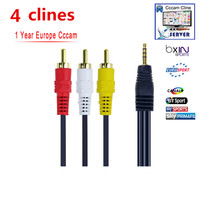 Av Cabel 1 Year Ccams 4 CLINES For Satellite Receiver Clines WIFI FULL HD DVB S2
