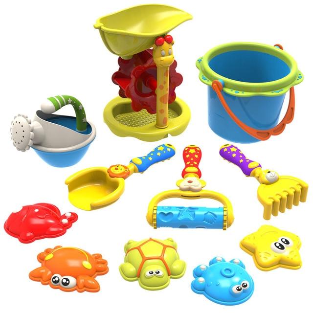 Living Stenen Speelgoed hoge kwaliteit Emmer Harken Zand Wiel Watering Outdoor Beach Play Bad Speelgoed Voor Kinderen Geschenken