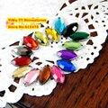10,000 pçs/saco 1.5*3mm Plano Voltar Navette Olho Forma Strass Acrílico, Plástico Acrílico Da Arte Do Prego 3D/vestuário/Jóia Strass