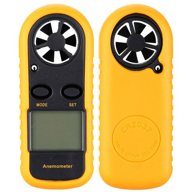 נייד מד רוח Anemometro מדחום רוח מהירות מד מד Windmeter LCD Anemometro דיגיטלי כף יד למדוד כלי