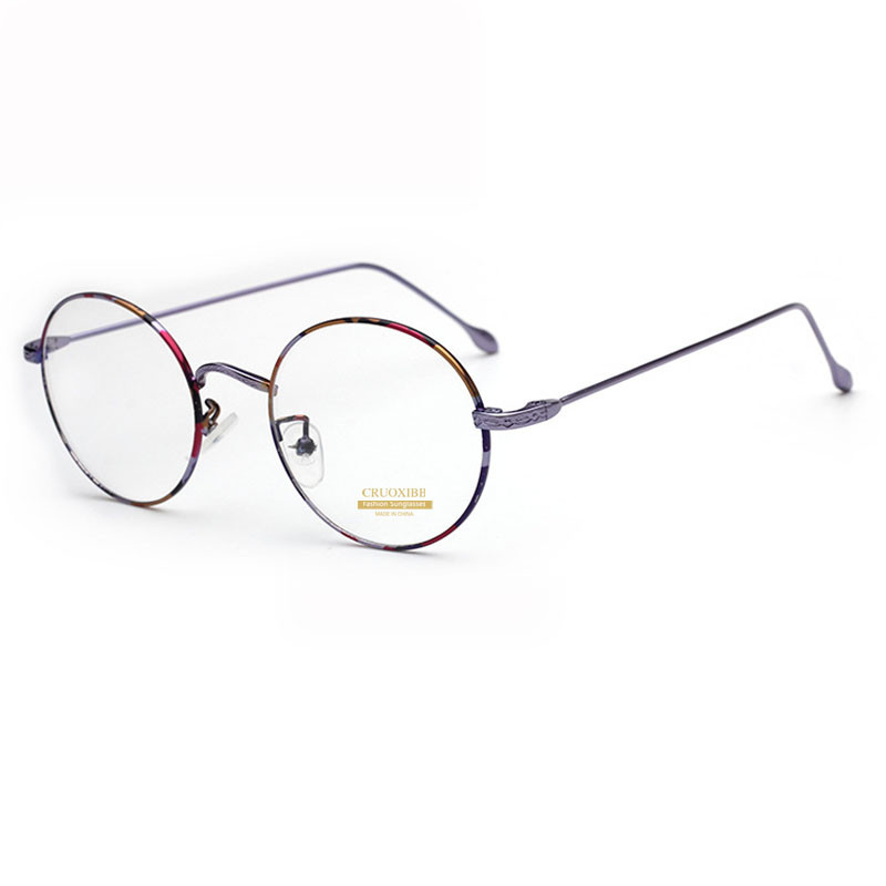 3918f4dd2d6 CRUOXIBB Vintage Round Eyeglasses Optical Spectacle Gold Frames  Prescription Eyewear Retro Clear Lens Glasses for Male Female-in Sunglasses  from Apparel ...