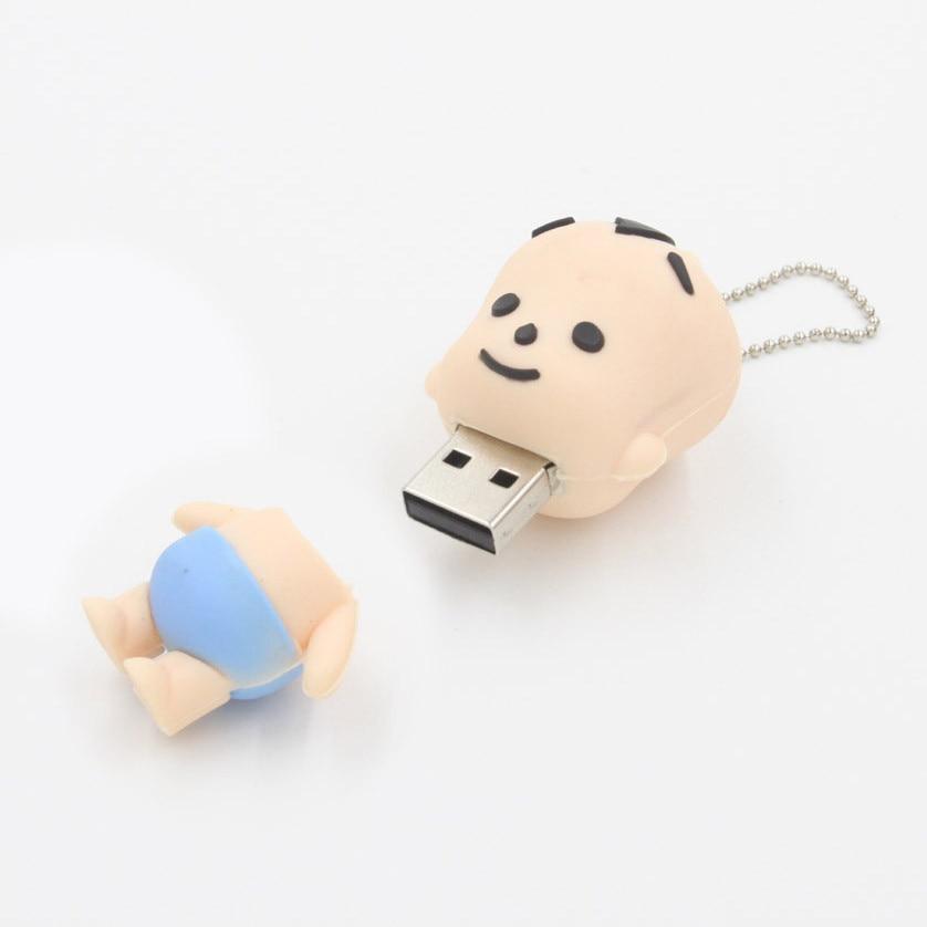 Techkey® Cartoon Lovely Boy Baby Kid Shape USB Memory Flash Drive 2GB 4GB
