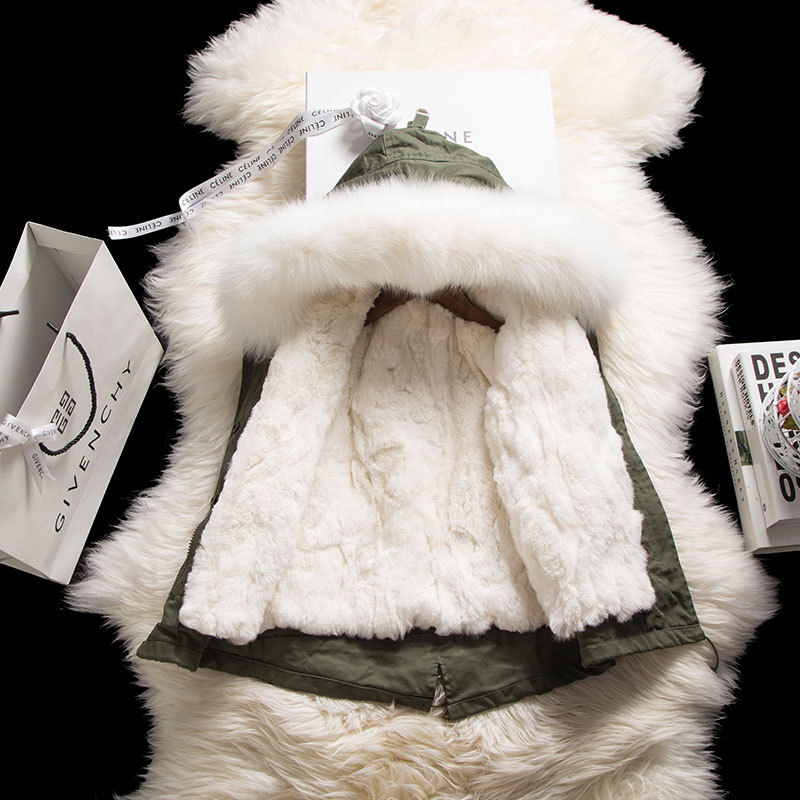 JKP men's and women's jacket children's fur coat Nicole fur really natural rex rabbit hair large braid hair collar SW-16 jkp 2018 autumn and winter new stars with the same coat genuine rabbit fur coat big raccoon fur collar children s jacket ct 16