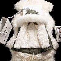 JKP men's and women's jacket children's fur coat Nicole fur really natural rex rabbit hair large braid hair collar SW 16