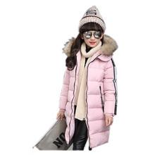 Livraison Gratuite Nouveau Coton De Mode Casual Hiver vêtements pour filles Plus Épais veste pour les filles 3 couleur 120 cm-160 cm