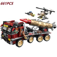Assemble Legoed Weapon Missile Vehicle Military Armed Helicopter Building Blocks Educational Toys For Children Compatible Legod
