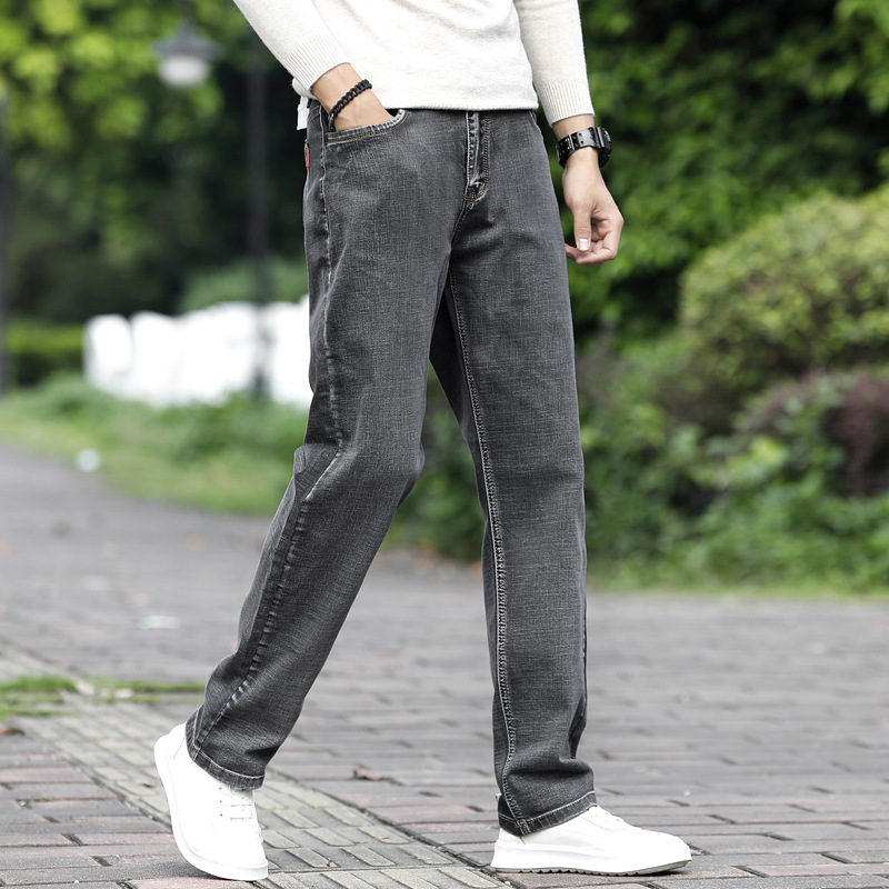 2019 New Spring Cotton Denim Skinny Denim Jeans Men Slim Fit Classic Jeans Men High Quality Trousers Soft Mens Pants