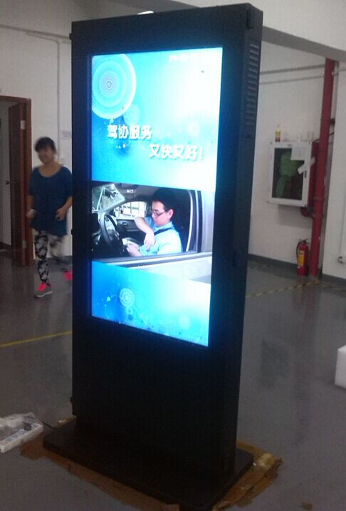 Custom 55''65''70''82'' Double Side Advertising Video Player Dual LCD  Led Display