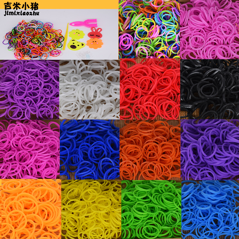 Diy Toys Rubber Bands Bracelet For Kids Or Hair Rubber Loom Bands Refill Rubber Band Make Woven Bracelet DIY Christmas 2019 Gift(China)
