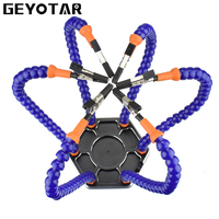 GEYOTAR Multi Soldering Repair Station Solder Assembly Hand Tools With 6pcs Flexible Arms For PCB Board